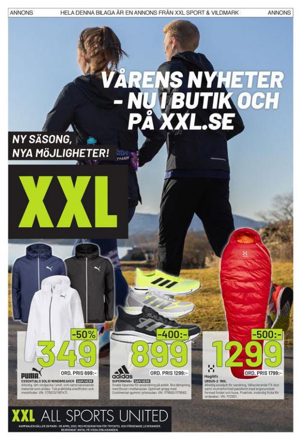 XXL Erbjudande Vårens Nyheter . XXL (2021-04-05-2021-04-05)