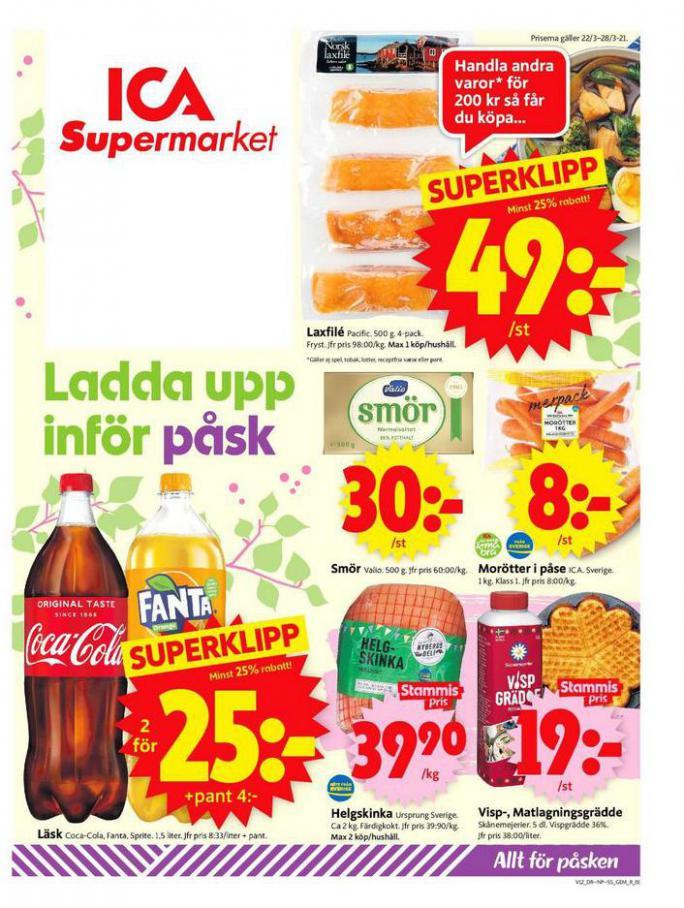 ICA Supermarket Erbjudanden . ICA Supermarket (2021-03-28-2021-03-28)