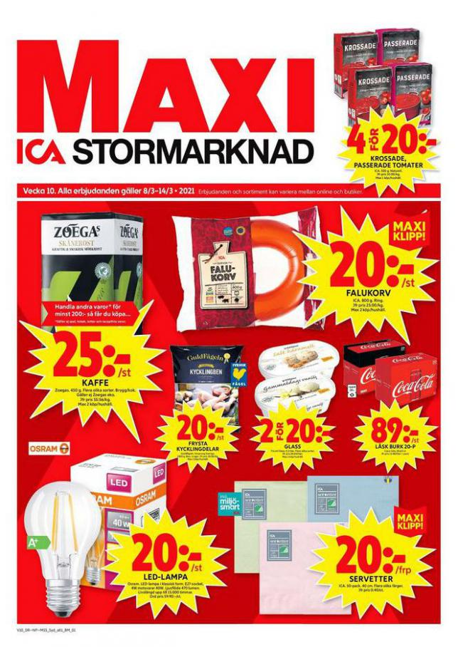 ICA Maxi Erbjudanden . ICA Maxi (2021-03-14-2021-03-14)