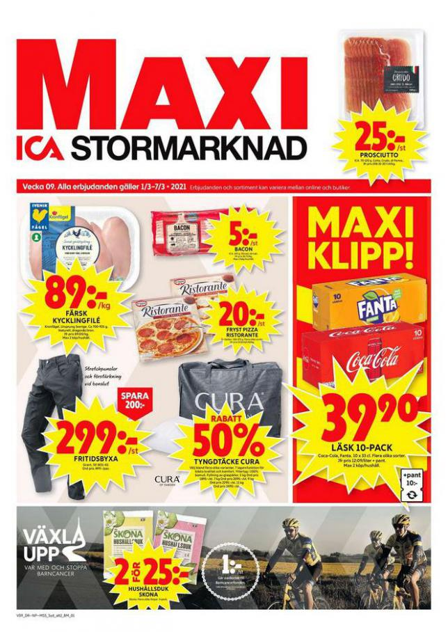 ICA Maxi Erbjudanden . ICA Maxi (2021-03-07-2021-03-07)