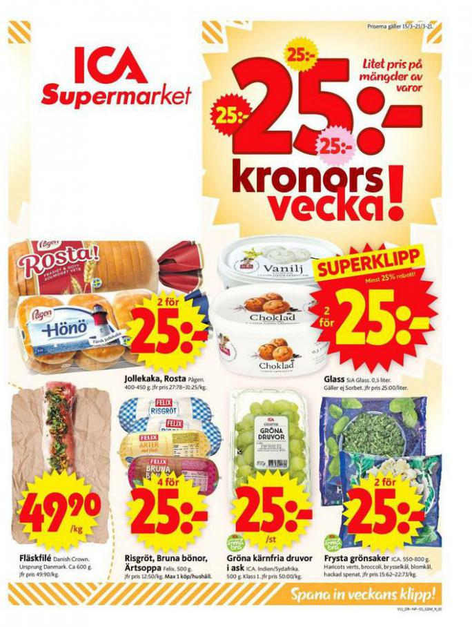 ICA Supermarket Erbjudanden . ICA Supermarket (2021-03-18-2021-03-18)