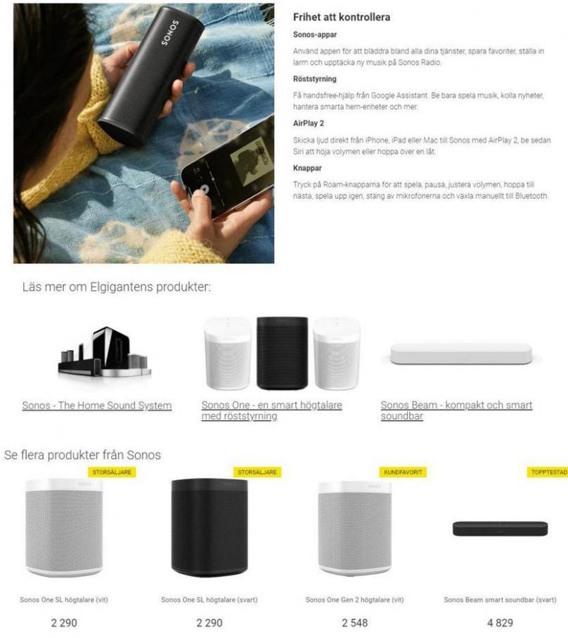 Elgiganten Erbjudande Sonos . Page 4