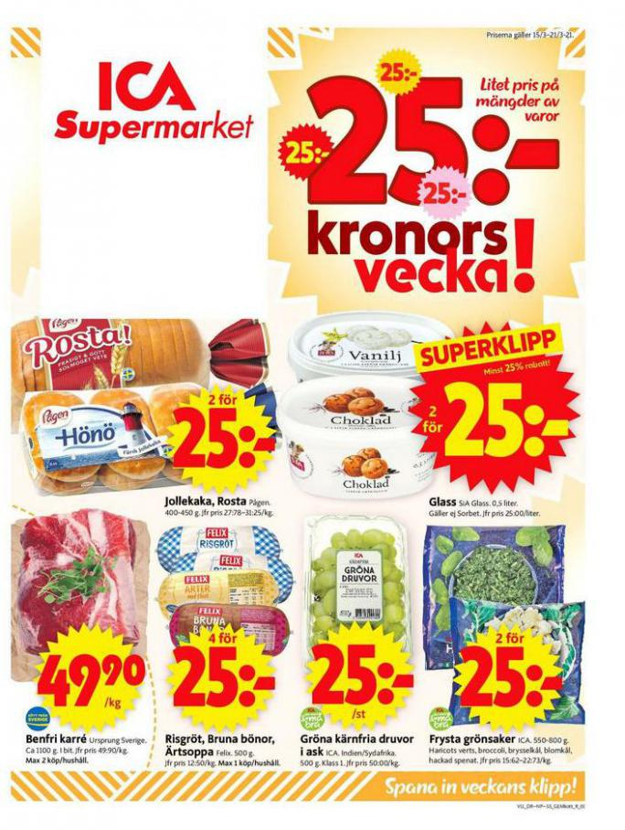 ICA Supermarket Erbjudanden . ICA Supermarket (2021-03-21-2021-03-21)