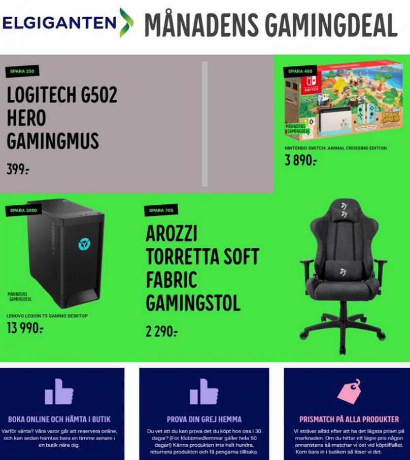 Elgiganten Erbjudande Månadens gamingdeal . Elgiganten (2021-03-21-2021-03-21)
