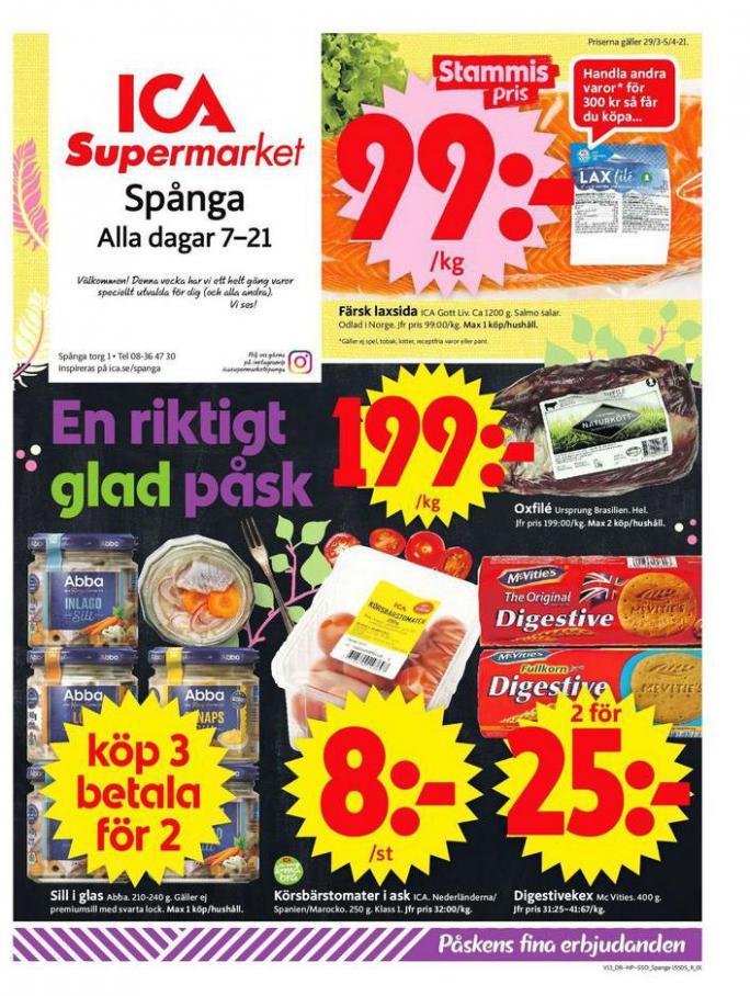 ICA Supermarket Erbjudanden . ICA Supermarket (2021-04-01-2021-04-01)