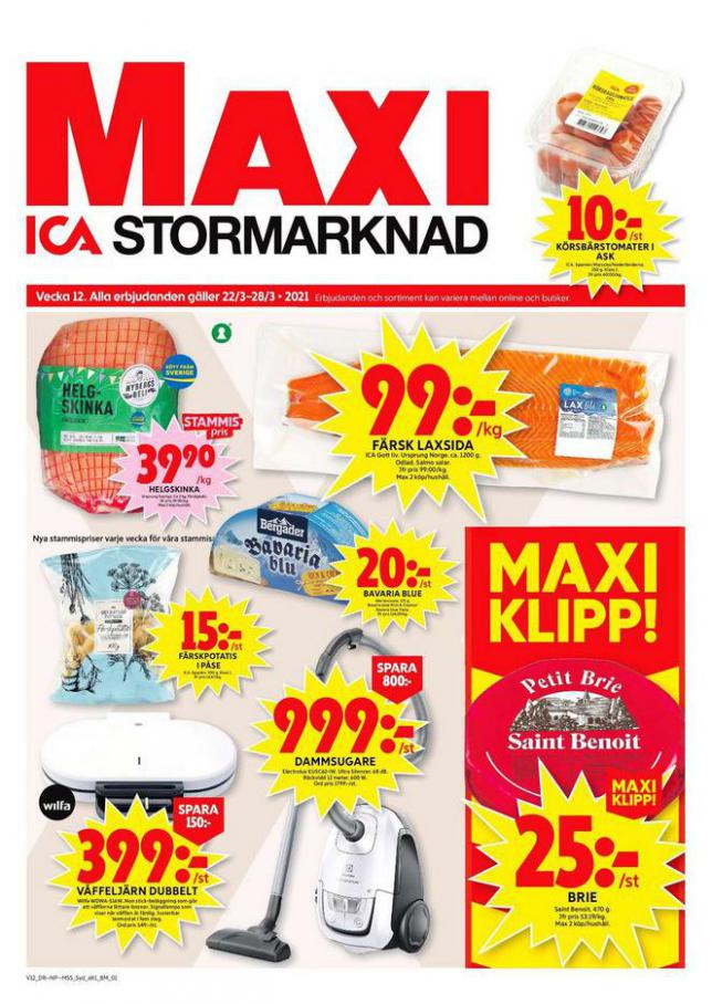 ICA Maxi Erbjudanden . ICA Maxi (2021-03-28-2021-03-28)