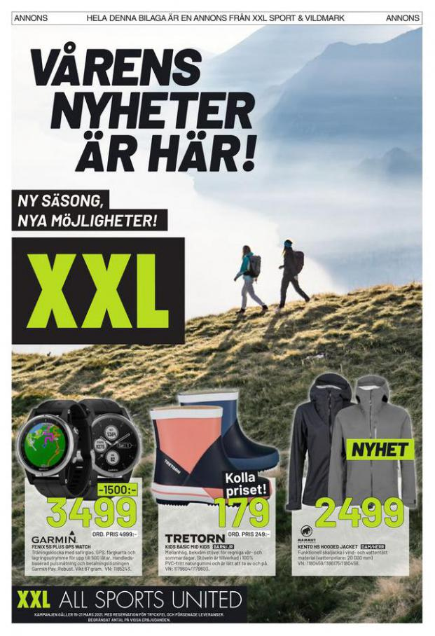 XXL Erbjudande Vårens Nyheter är här! . XXL (2021-03-21-2021-03-21)