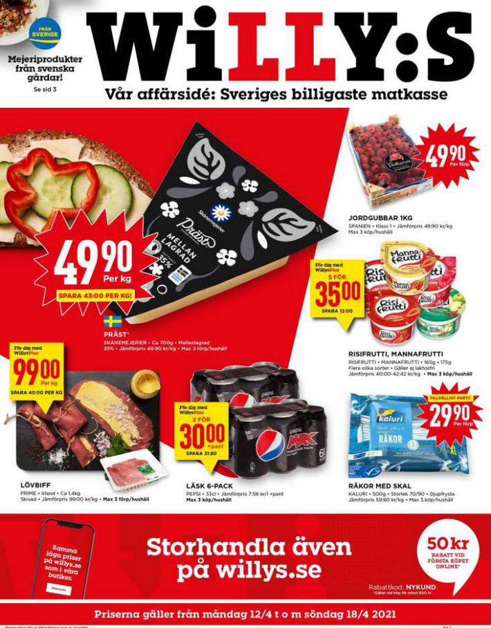 Willys reklamblad . Willys (2021-04-18-2021-04-18)