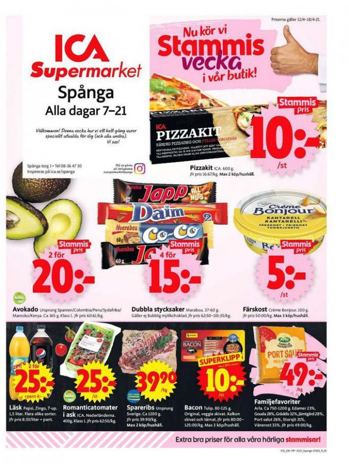 ICA Supermarket Erbjudanden . ICA Supermarket (2021-04-15-2021-04-15)