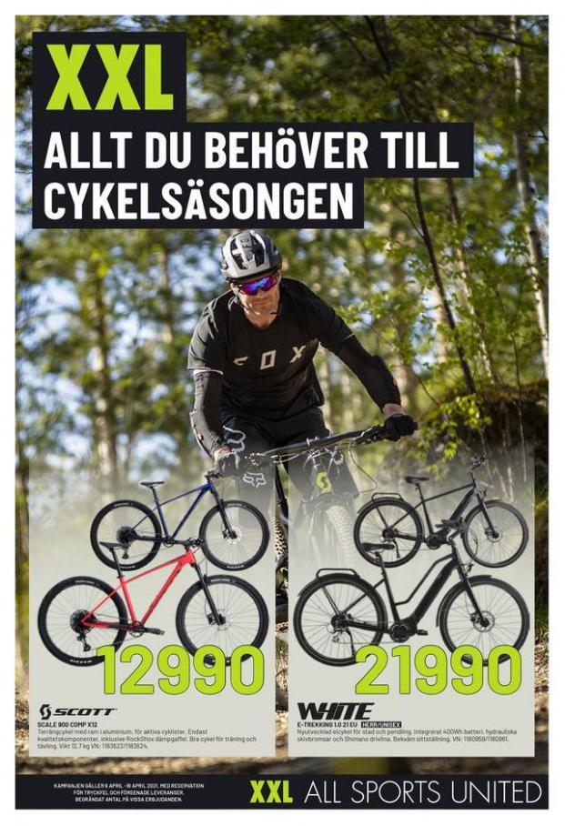 XXL Erbjudande Allt du behöver till Cykelsäsongen . XXL (2021-04-18-2021-04-18)