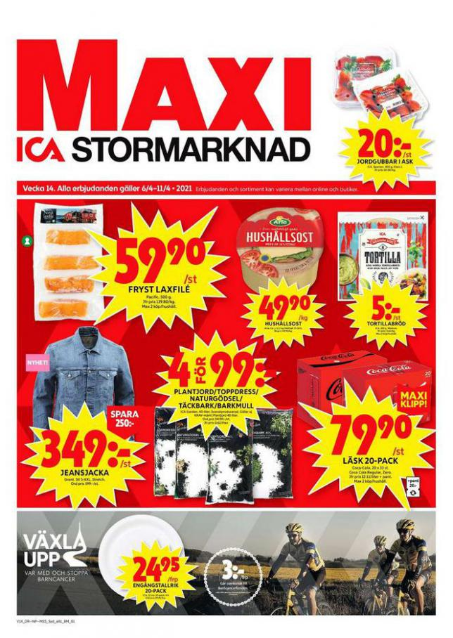 ICA Maxi Erbjudanden . ICA Maxi (2021-04-11-2021-04-11)