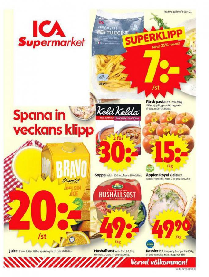 ICA Supermarket Erbjudanden . ICA Supermarket (2021-04-11-2021-04-11)