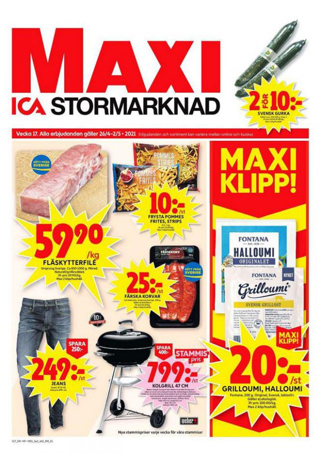 ICA Maxi Erbjudanden . ICA Maxi (2021-05-02-2021-05-02)