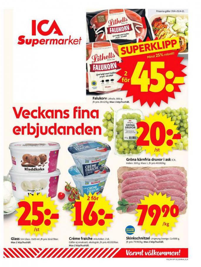 ICA Supermarket Erbjudanden . ICA Supermarket (2021-04-25-2021-04-25)
