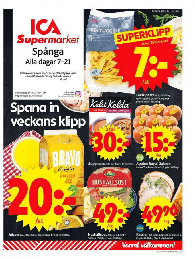 ICA Supermarket Erbjudanden . ICA Supermarket (2021-04-08-2021-04-08)
