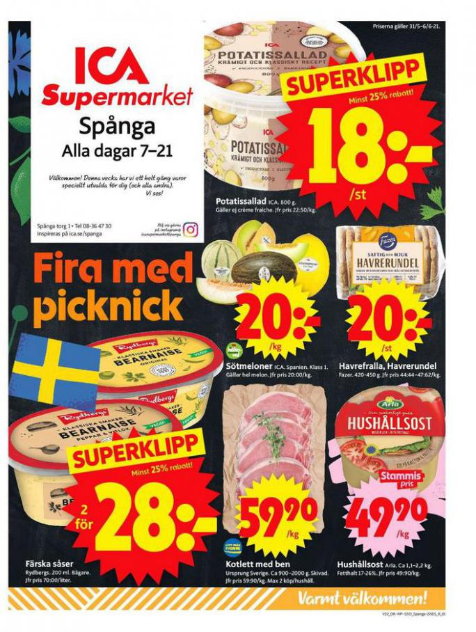 ICA Supermarket Erbjudanden. ICA Supermarket (2021-06-06-2021-06-06)