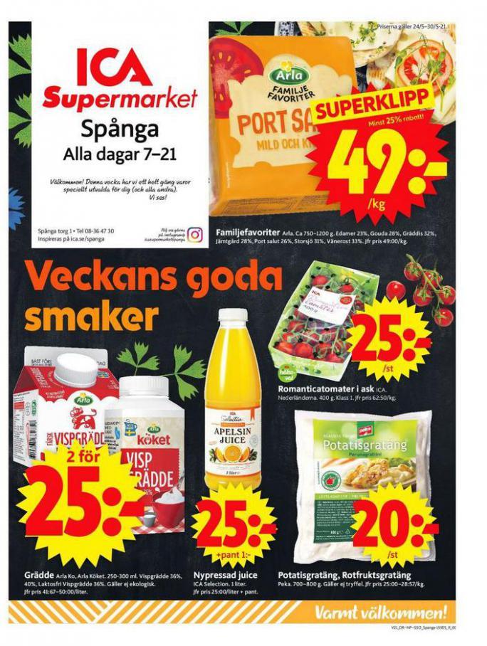 ICA Supermarket Erbjudanden. ICA Supermarket (2021-05-27-2021-05-27)