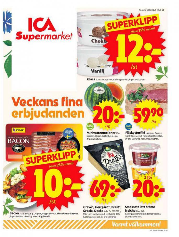 ICA Supermarket Erbjudanden . ICA Supermarket (2021-05-16-2021-05-16)