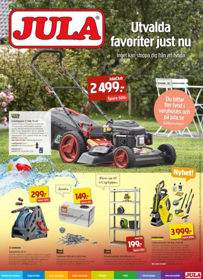 Jula reklamblad. Jula (2021-07-04-2021-07-04)