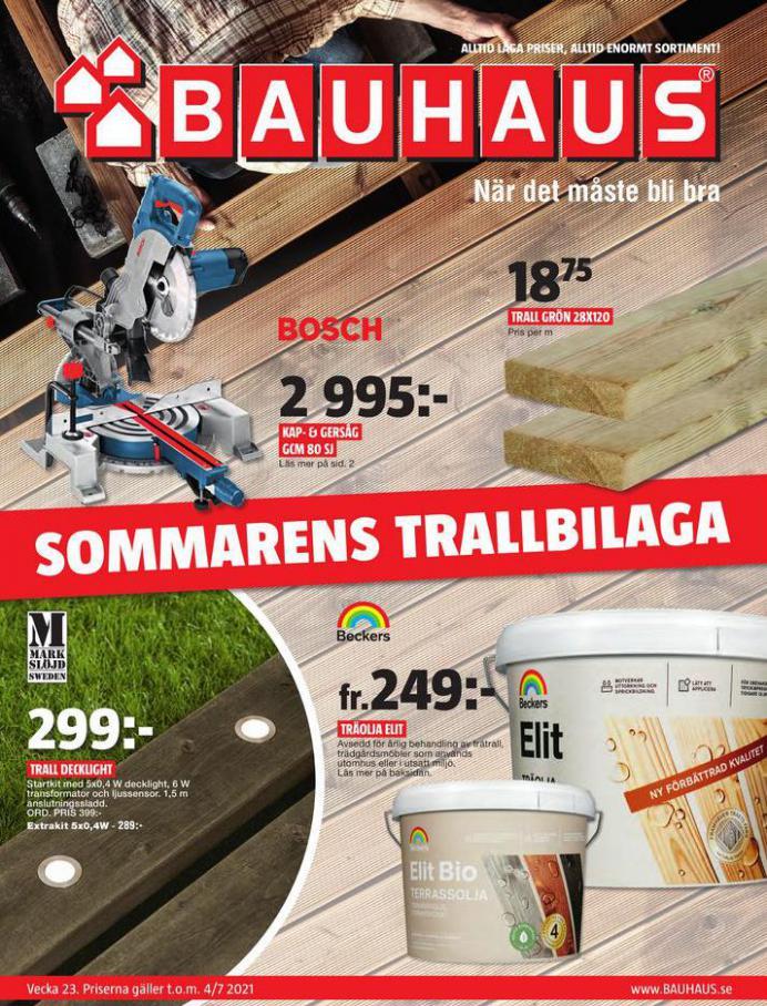 Bauhaus Erbjudande Sommarens Trallbilaga. Bauhaus (2021-07-04-2021-07-04)