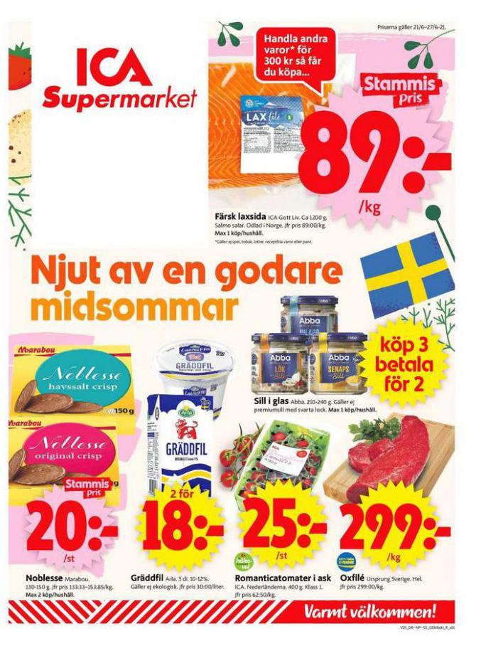 ICA Supermarket Erbjudanden. ICA Supermarket (2021-06-27-2021-06-27)