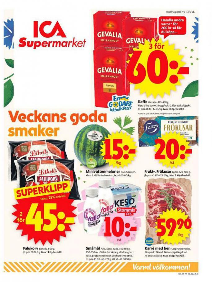 ICA Supermarket Erbjudanden. ICA Supermarket (2021-06-13-2021-06-13)