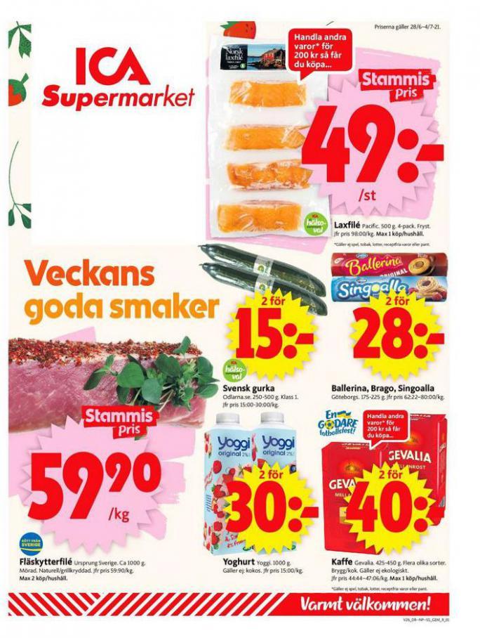 ICA Supermarket Erbjudanden. ICA Supermarket (2021-07-04-2021-07-04)