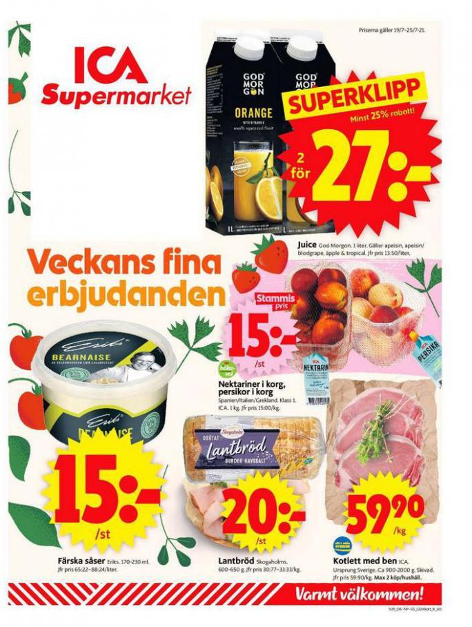 ICA Supermarket Erbjudanden. ICA Supermarket (2021-07-25-2021-07-25)