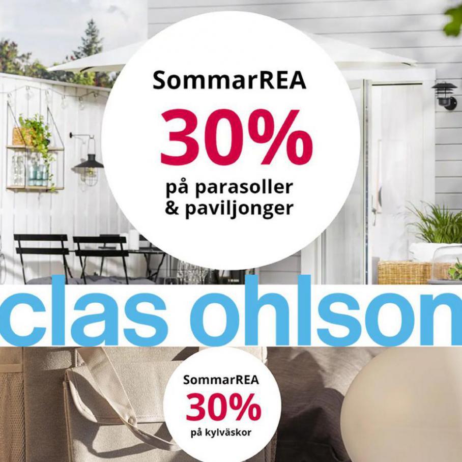 Sommar rea 30%. Clas Ohlson (2021-07-23-2021-07-23)