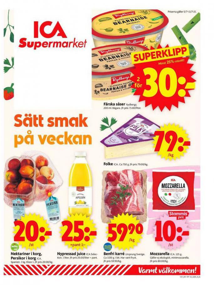ICA Supermarket Erbjudanden. ICA Supermarket (2021-07-11-2021-07-11)
