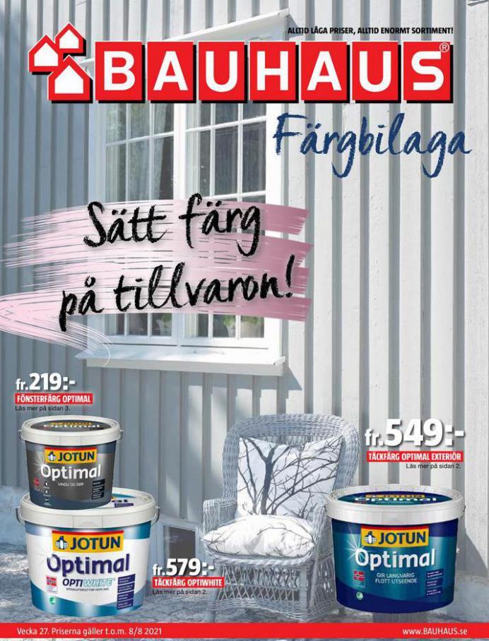 Bauhaus Erbjudande Färgbilaga. Bauhaus (2021-08-08-2021-08-08)