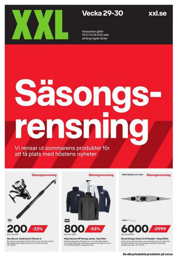 XXL Erbjudande Säsongsrensning. XXL (2021-08-01-2021-08-01)