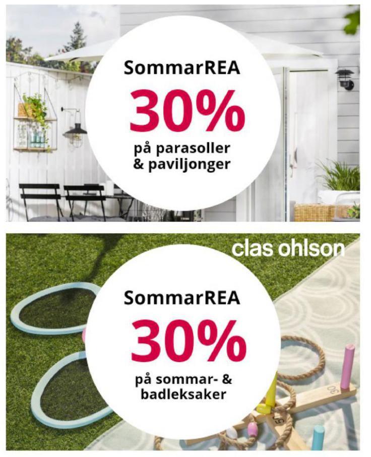 Sommar Rea 30%. Clas Ohlson (2021-08-06-2021-08-06)