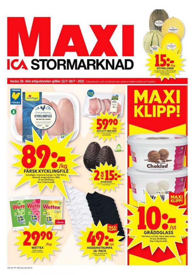 ICA Maxi Erbjudanden. ICA Maxi (2021-07-18-2021-07-18)