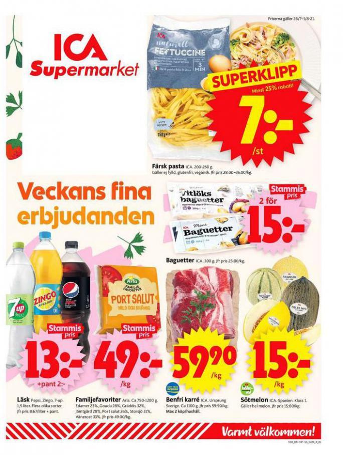 ICA Supermarket Erbjudanden. ICA Supermarket (2021-08-01-2021-08-01)