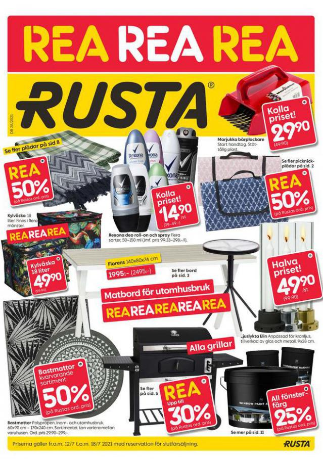Rusta Erbjudande Vecka DR 28/2021. Rusta (2021-07-18-2021-07-18)