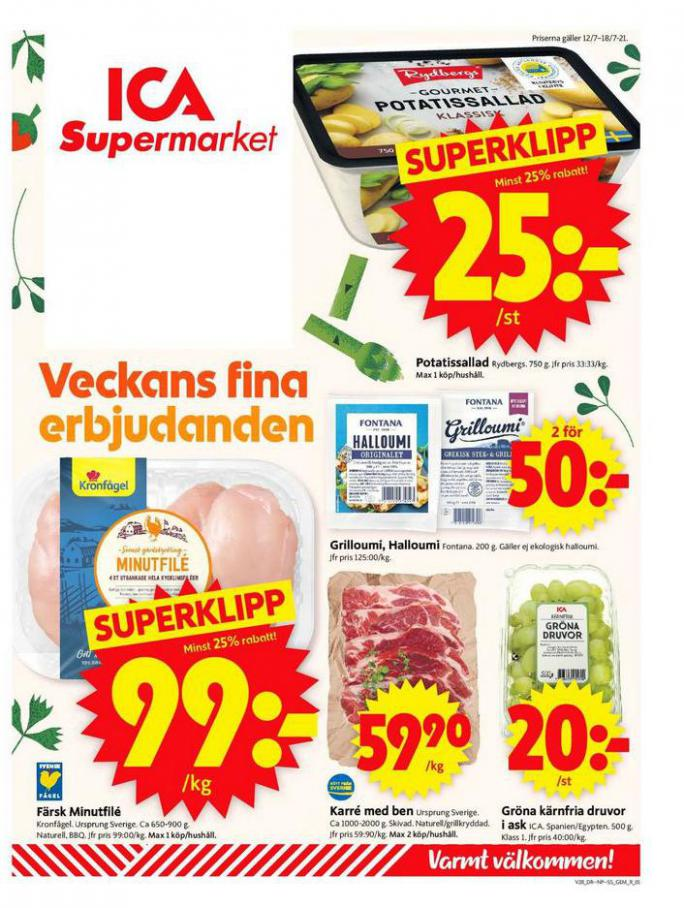 ICA Supermarket Erbjudanden. ICA Supermarket (2021-07-18-2021-07-18)