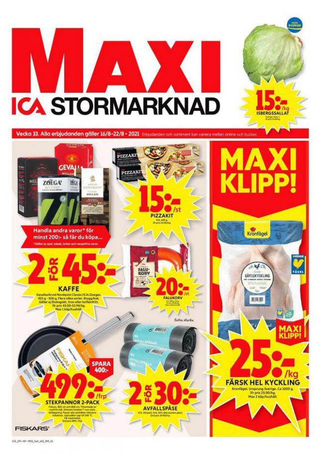 ICA Maxi Erbjudanden. ICA Maxi (2021-08-22-2021-08-22)
