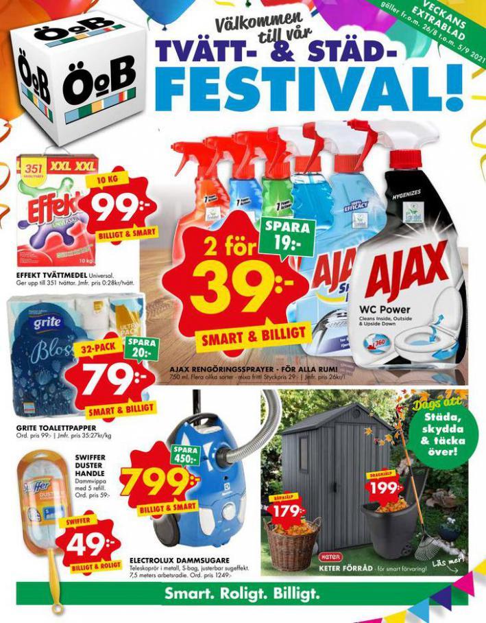 ÖoB Erbjudande Tvätt- & Städ- Festival!. ÖoB (2021-09-05-2021-09-05)