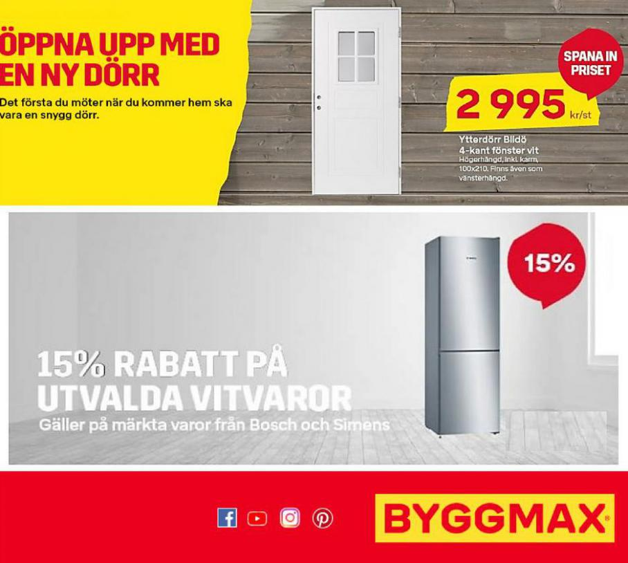15% rabbat. Byggmax (2021-08-08-2021-08-08)