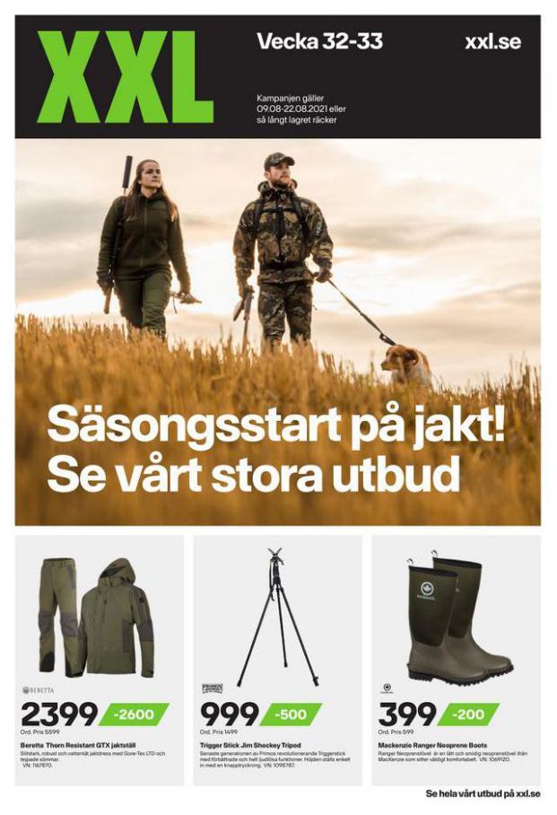 XXL Erbjudande Säsongsstart på jakt! Se vårt stora utbud. XXL (2021-08-22-2021-08-22)