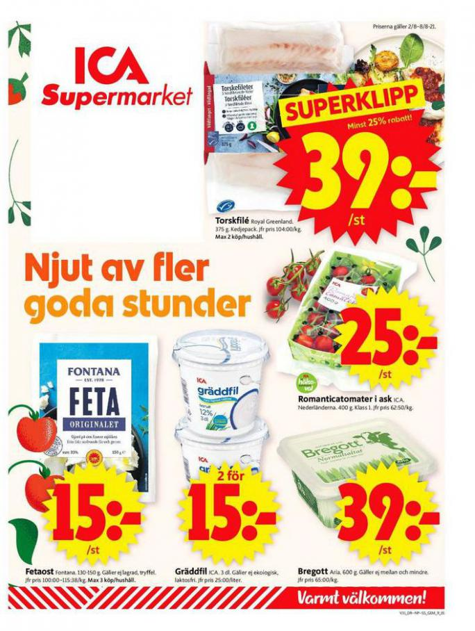 ICA Supermarket Erbjudanden. ICA Supermarket (2021-08-08-2021-08-08)