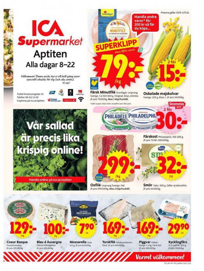 ICA Supermarket Erbjudanden. ICA Supermarket (2021-09-05-2021-09-05)