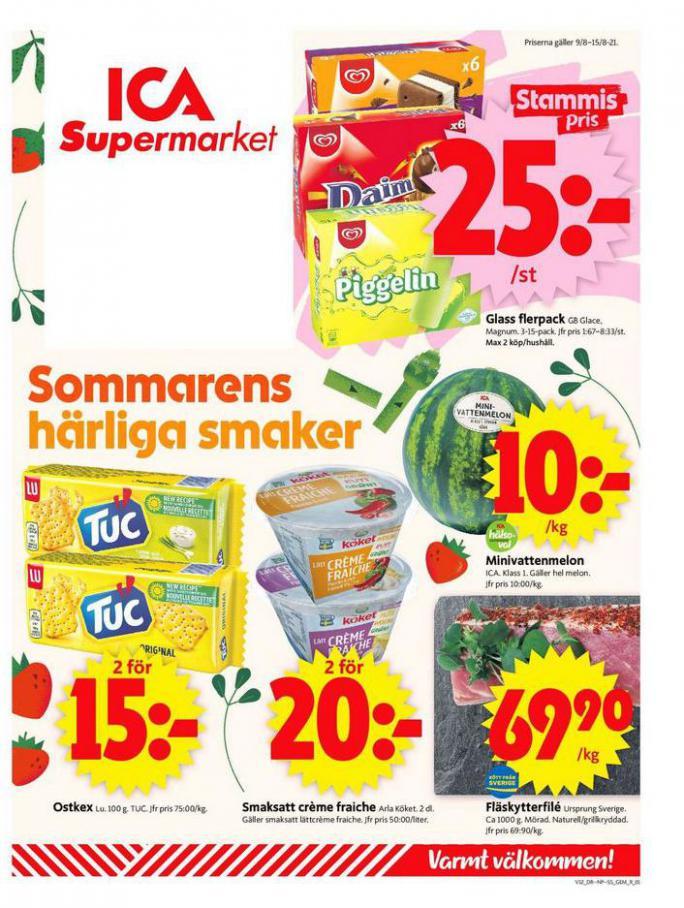 ICA Supermarket Erbjudanden. ICA Supermarket (2021-08-15-2021-08-15)