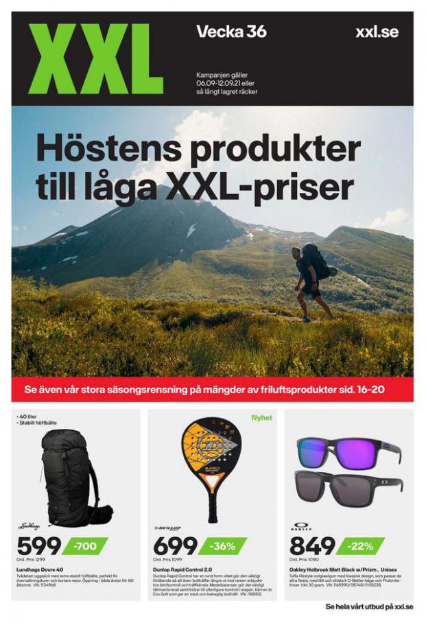 XXL Erbjudande Höstens produkter till låga XXL-priser. XXL (2021-09-12-2021-09-12)