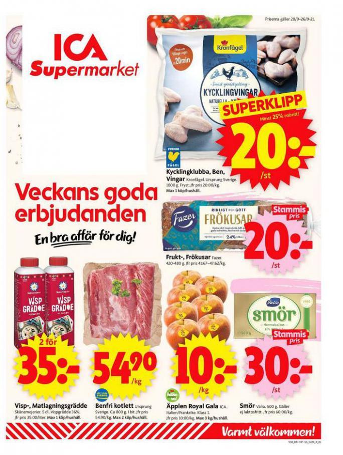 ICA Supermarket Erbjudanden. ICA Supermarket (2021-09-26-2021-09-26)