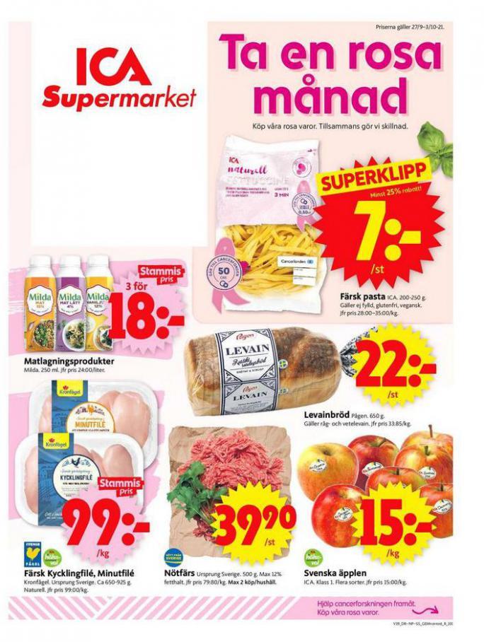 ICA Supermarket Erbjudanden. ICA Supermarket (2021-10-03-2021-10-03)