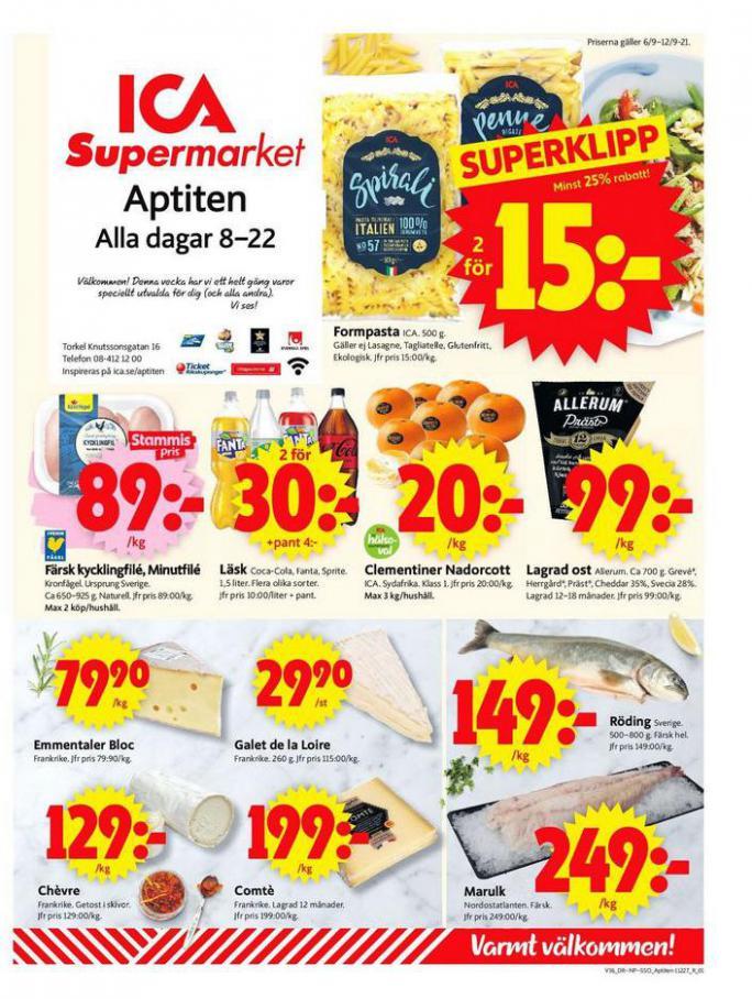 ICA Supermarket Erbjudanden. ICA Supermarket (2021-09-12-2021-09-12)