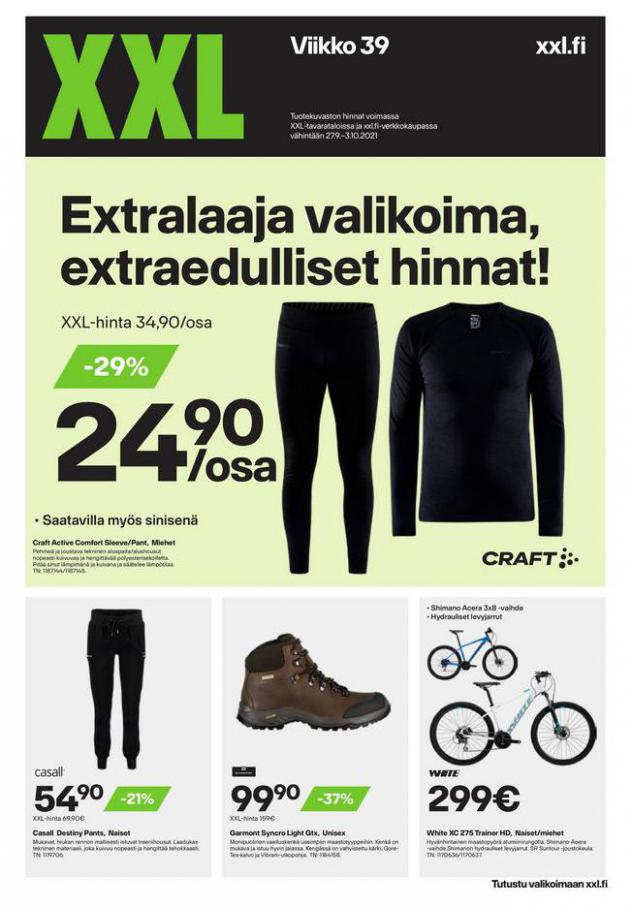 XXL Erbjudande Extralaaja valikoima, extraedulliset hinnat!. XXL (2021-10-03-2021-10-03)