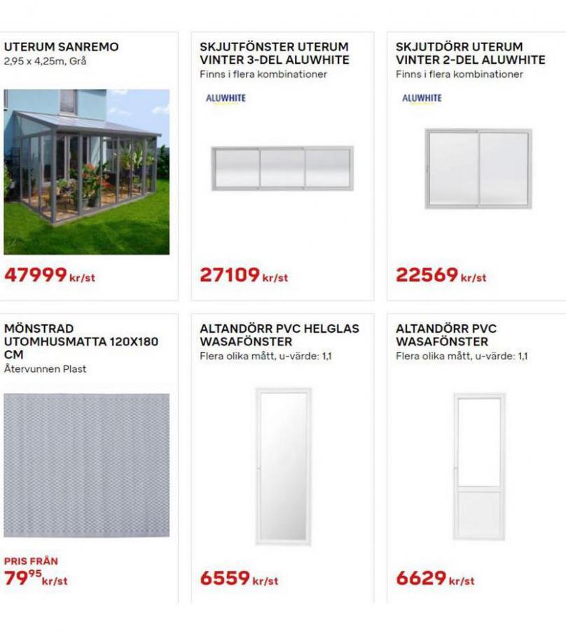 Byggmax Erbjudande Uterum & Skjutdörrar. Page 8